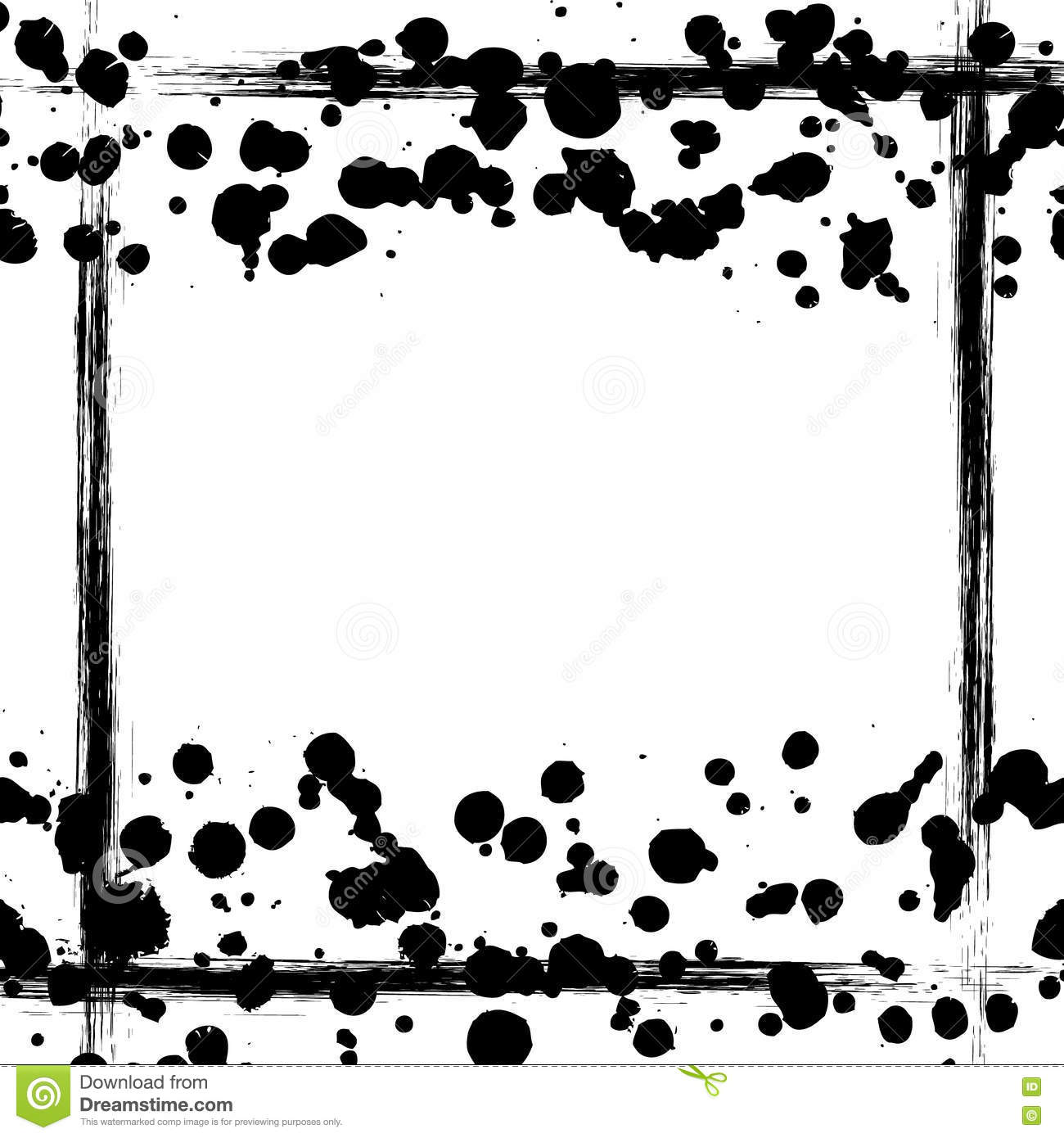 Vector Background Grunge Drawn Black And White Template