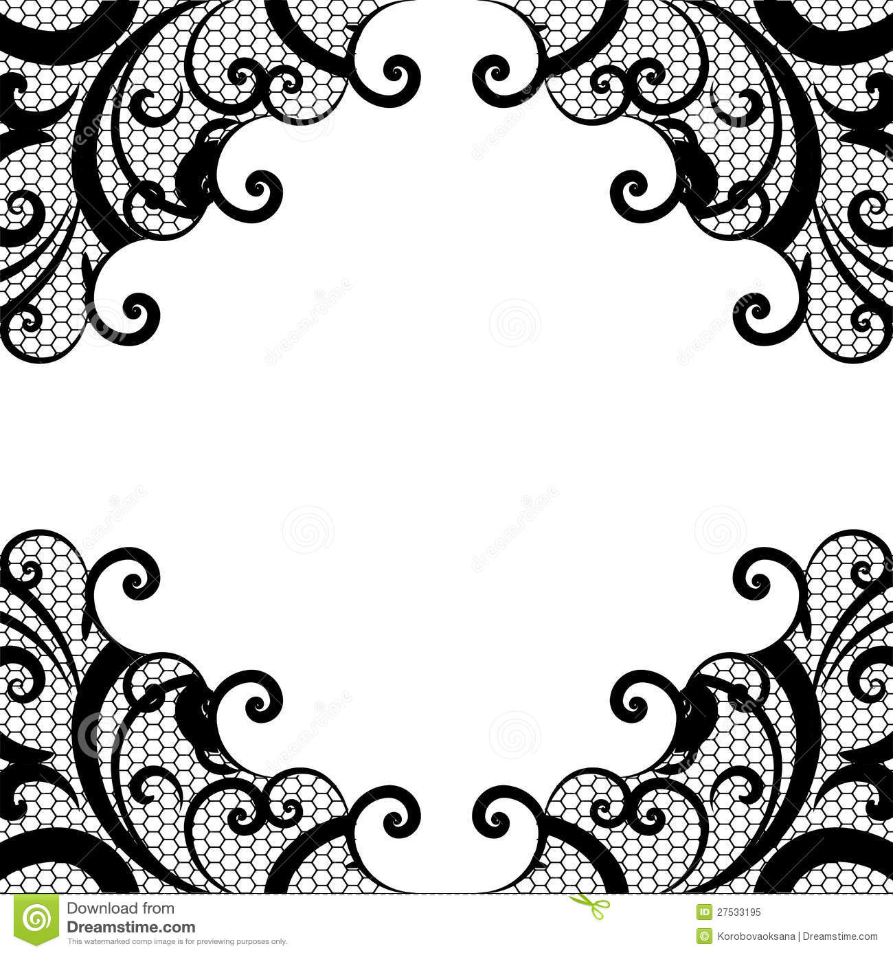 Vector Background Lace Royalty Free Stock Photo