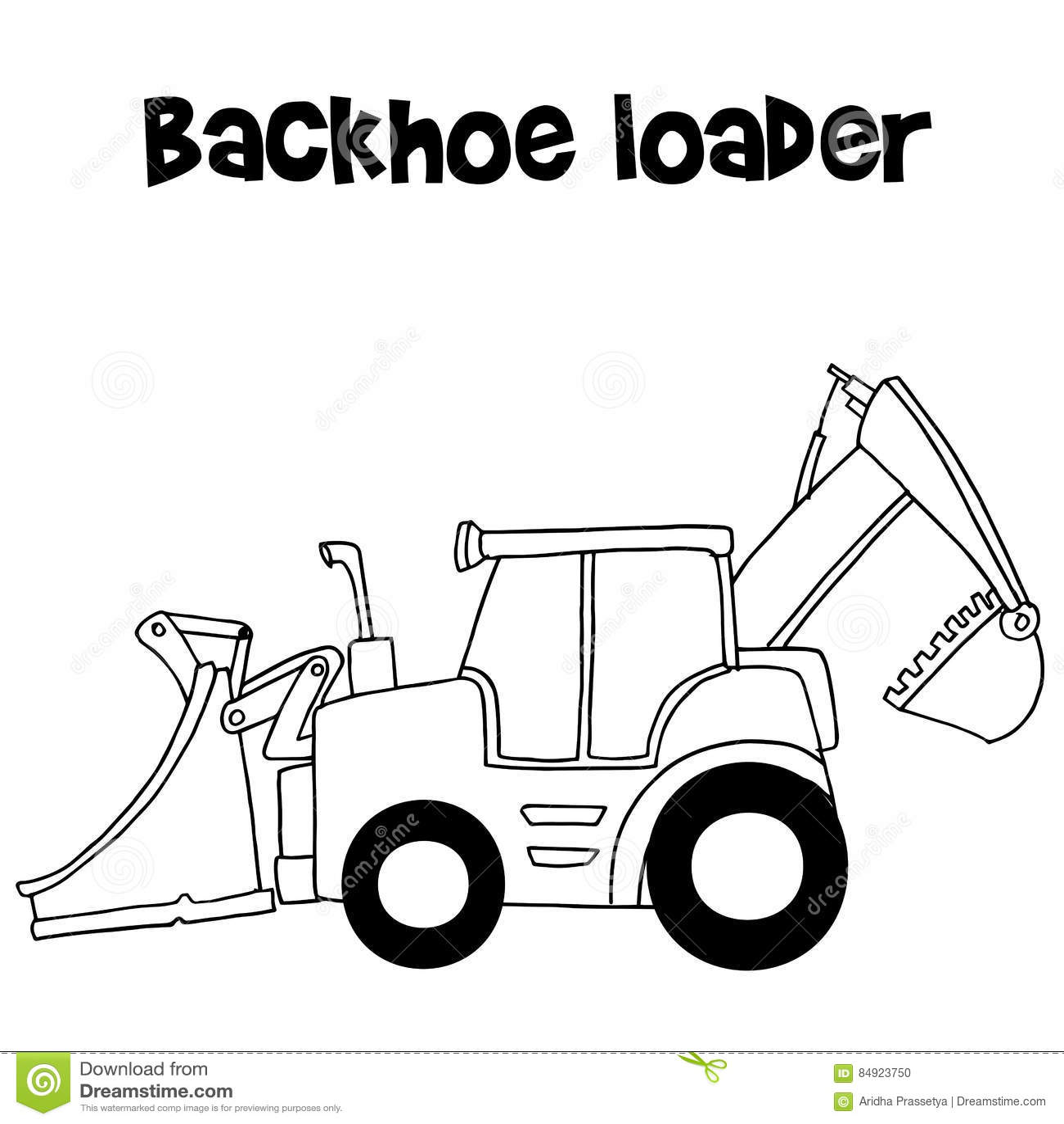 Backhoe Cartoon Cartoons Illustrations Amp Vector Stock Images