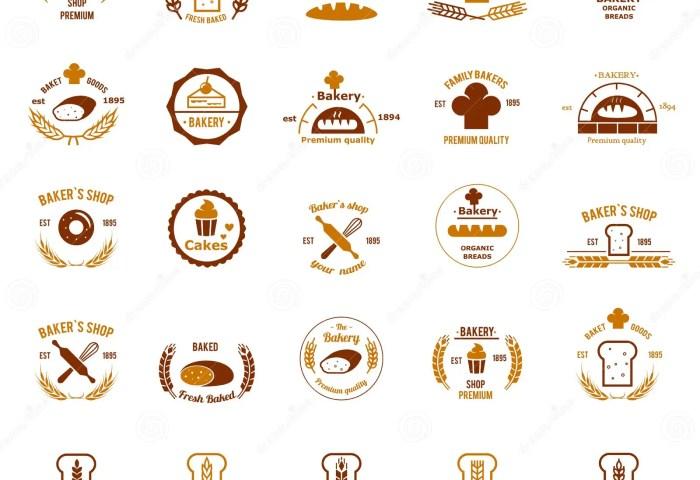 Vector Bakery Logos Set Stock Vector Illustration Of Logo 55456868