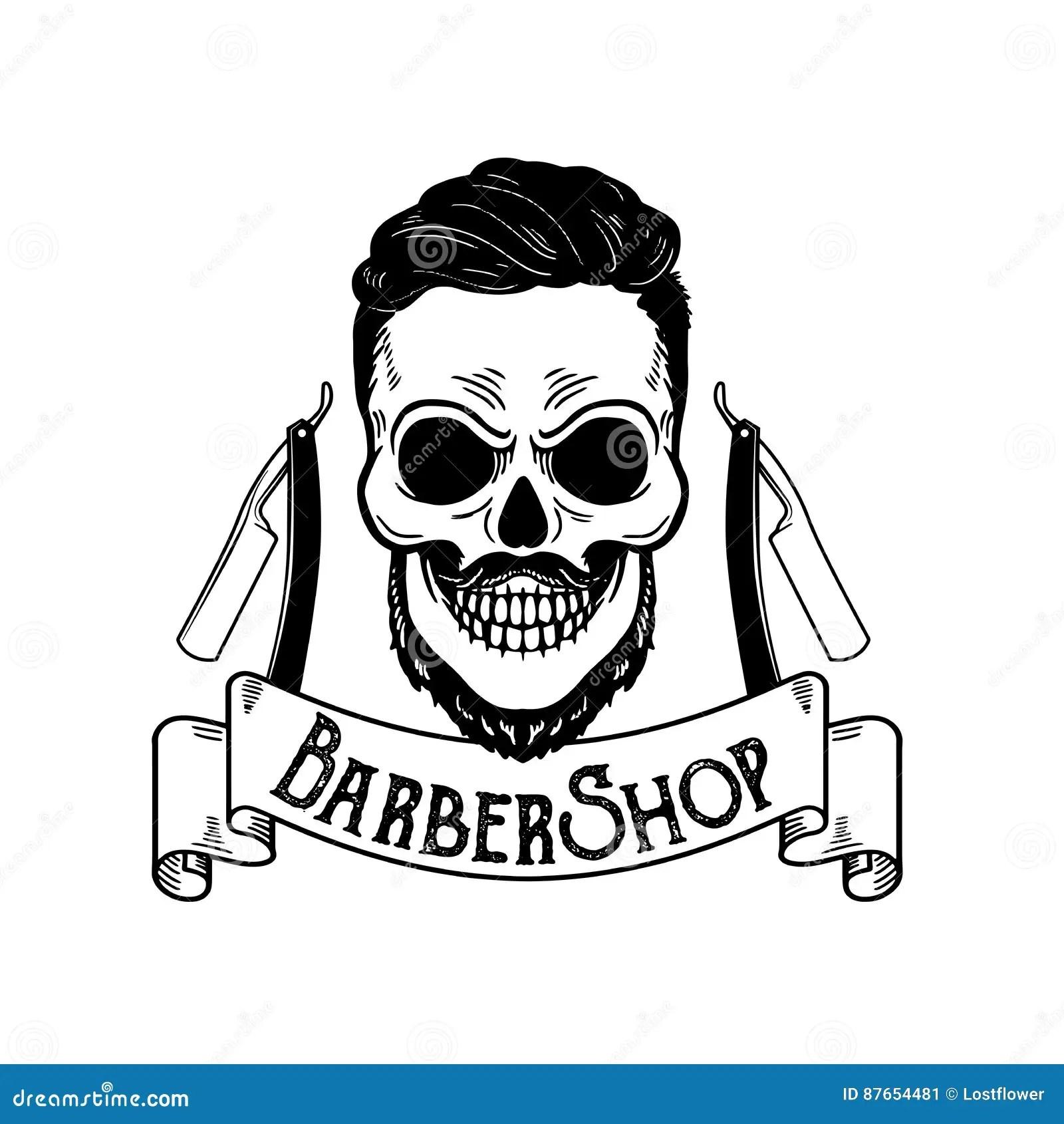 Vector Barbershop Emblem Barbershop Logo Or Badge For