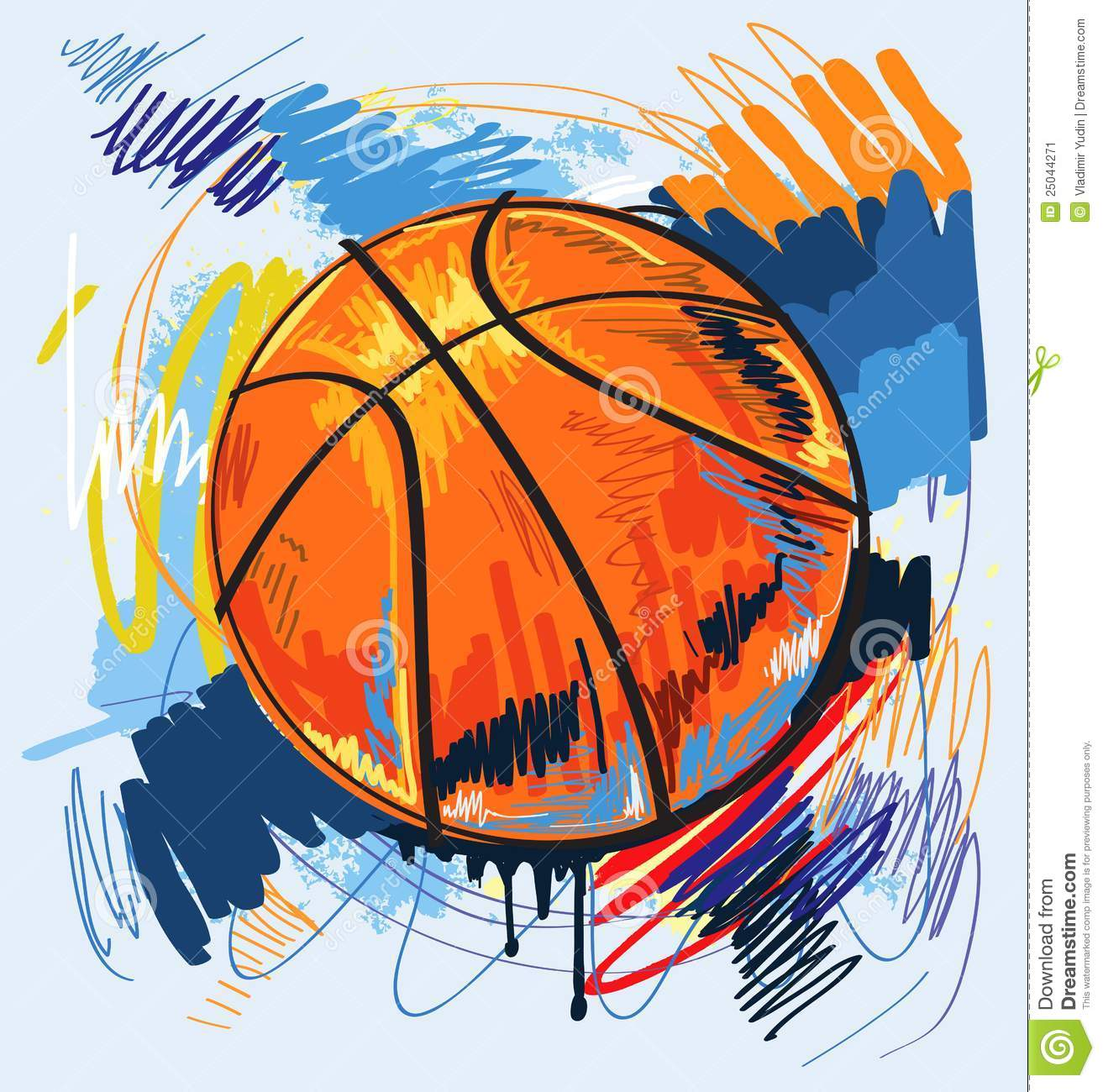 vector basketball stock image image 25044271