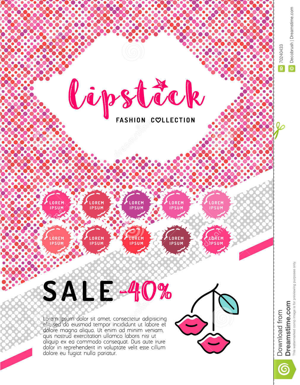 Vector Beauty Flyer A4 Makeup And Lipstick Poster