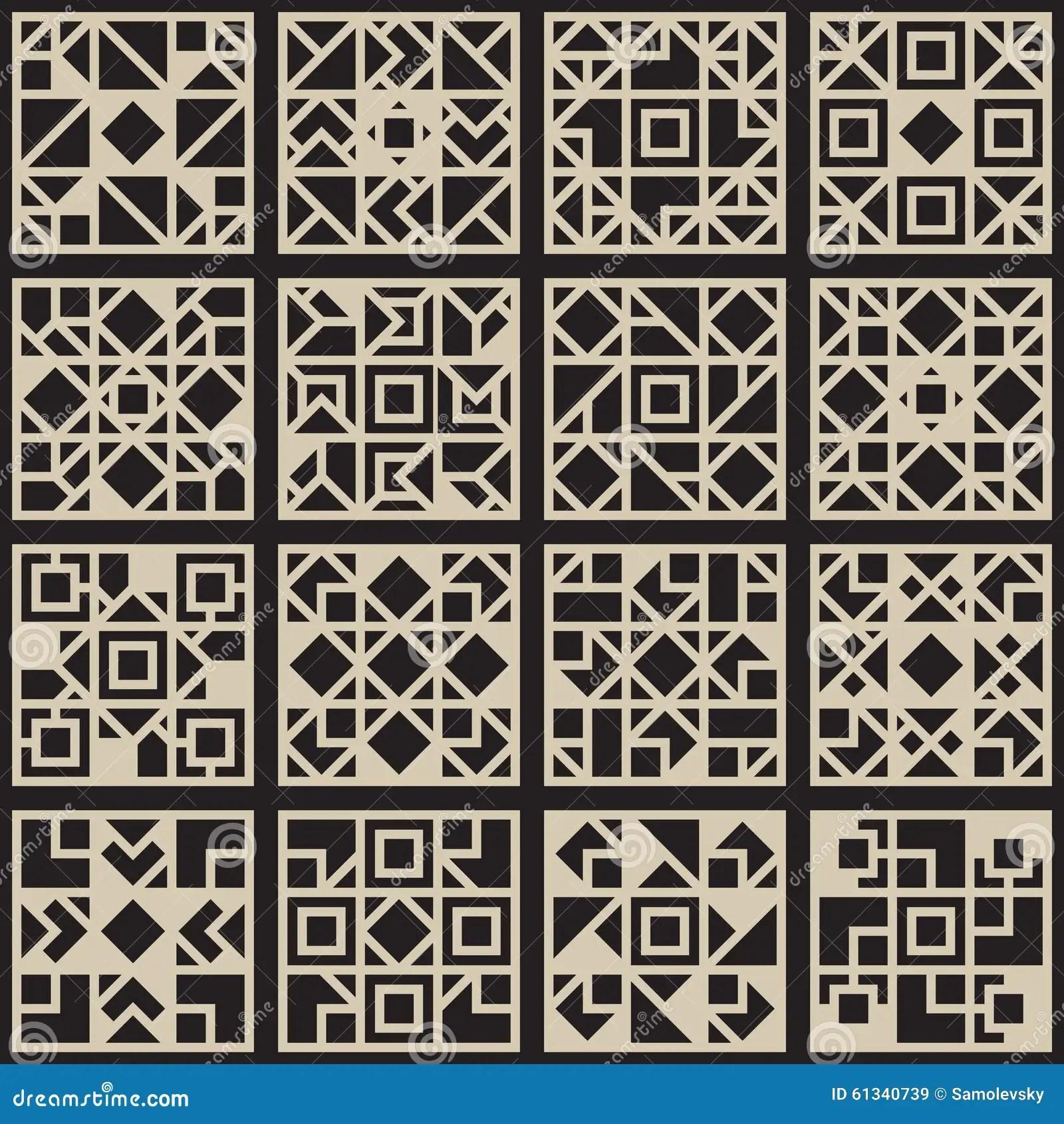 Vector Black Amp White Seamless Geometric Square Grid