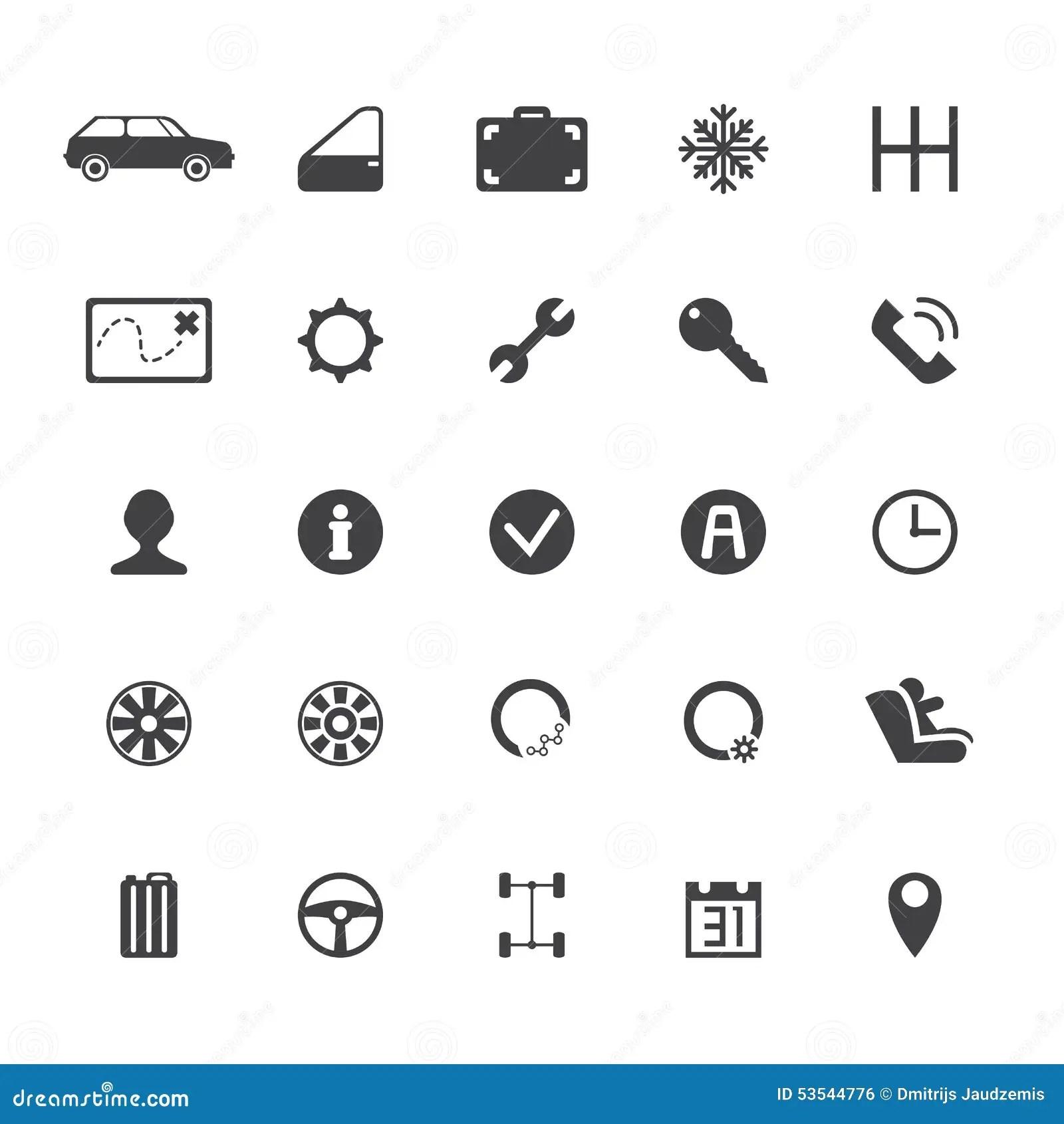 Vector Car Rental Icons Stock Vector