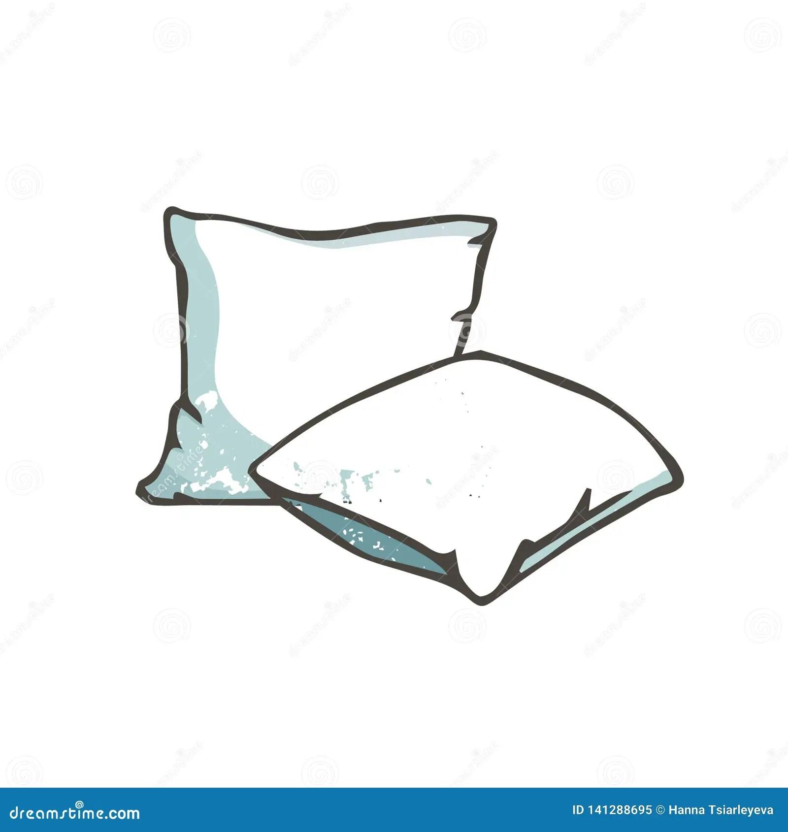 https www dreamstime com vector cartoon decorative pillows hand drawn clip art grunge style texture sketch illustration pillow image141288695