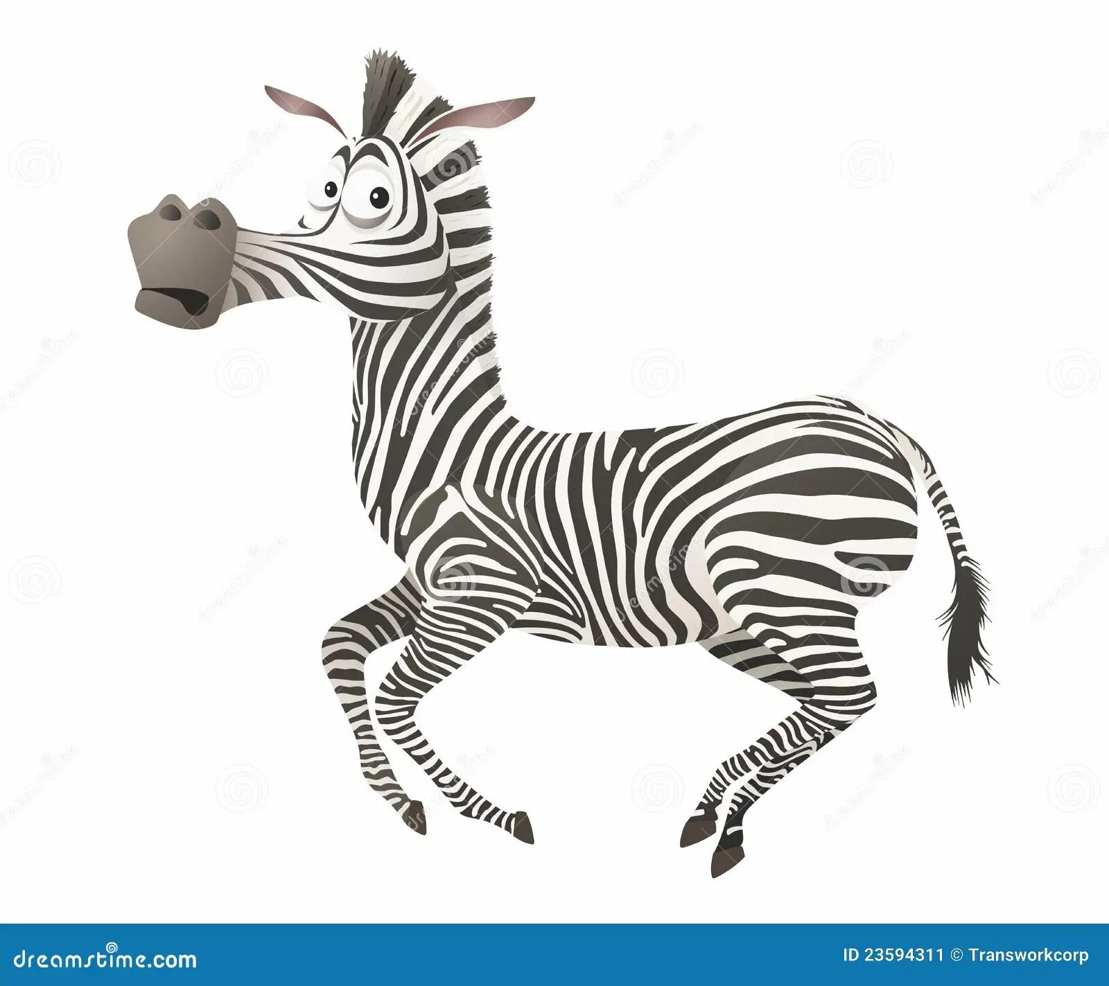 Cartoon Zebra Characterriped Cute Animal Vector