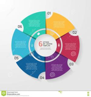 Vector Circle Infographic Template For Graphs, Charts