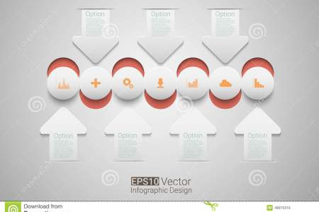 Vector circle timeline stock vector  Illustration of circular   48975310 Template for timeline   graph  presentation and chart  Business concept  with options  Eps10 vector for your design