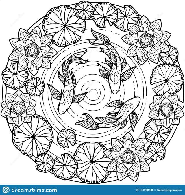 Vector Coloring Page for Adult. Tropical Summer Pattern Background