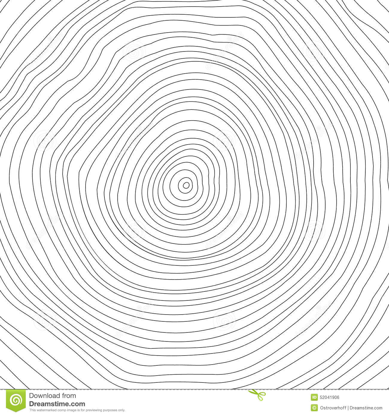 Vector Conceptual Background With Tree Rings Tree Stock