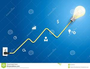 Vector Creative Light Bulb Abstract Charts And Gra Stock Images  Image: 32729154