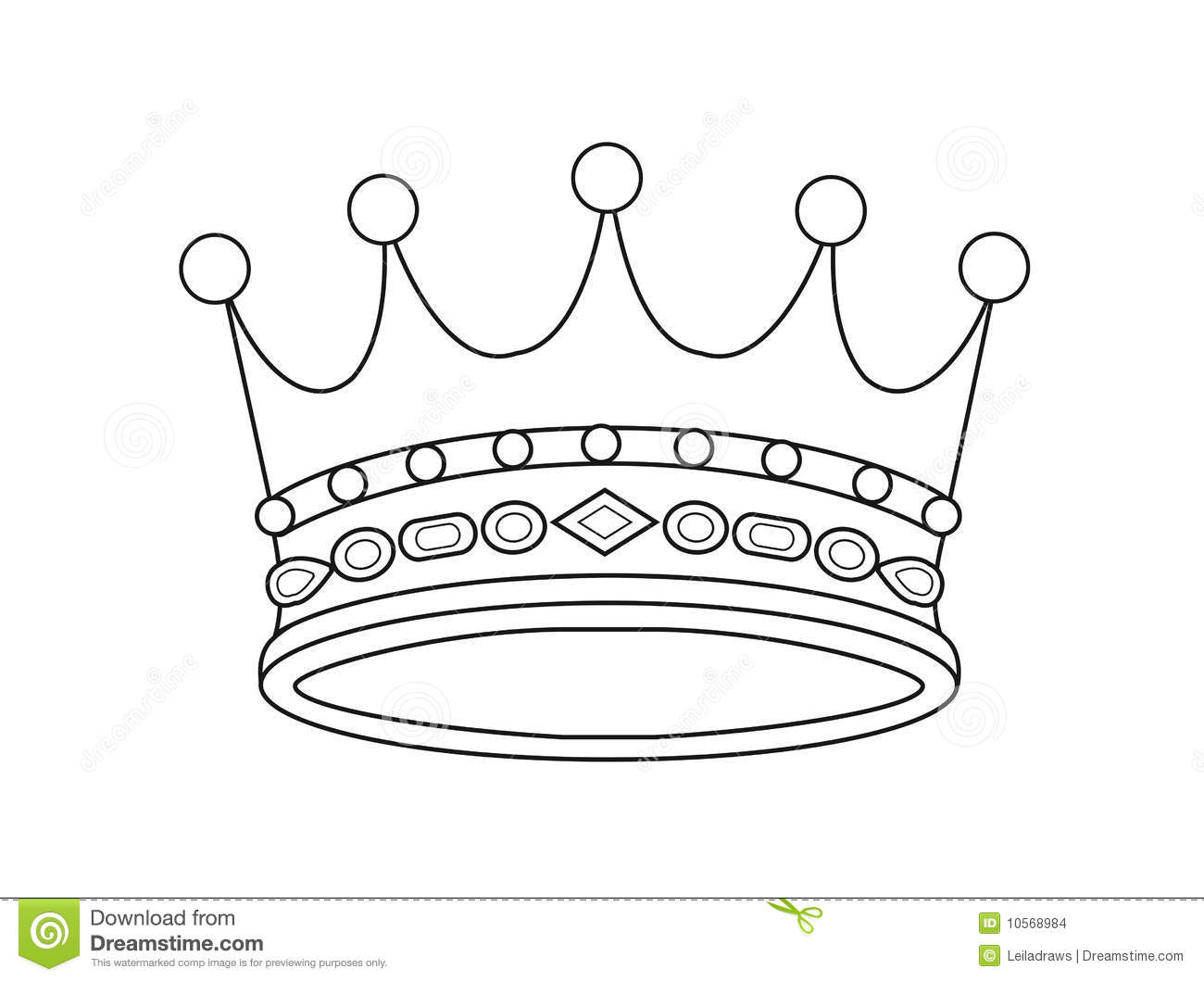 Vector Crown Stock Images