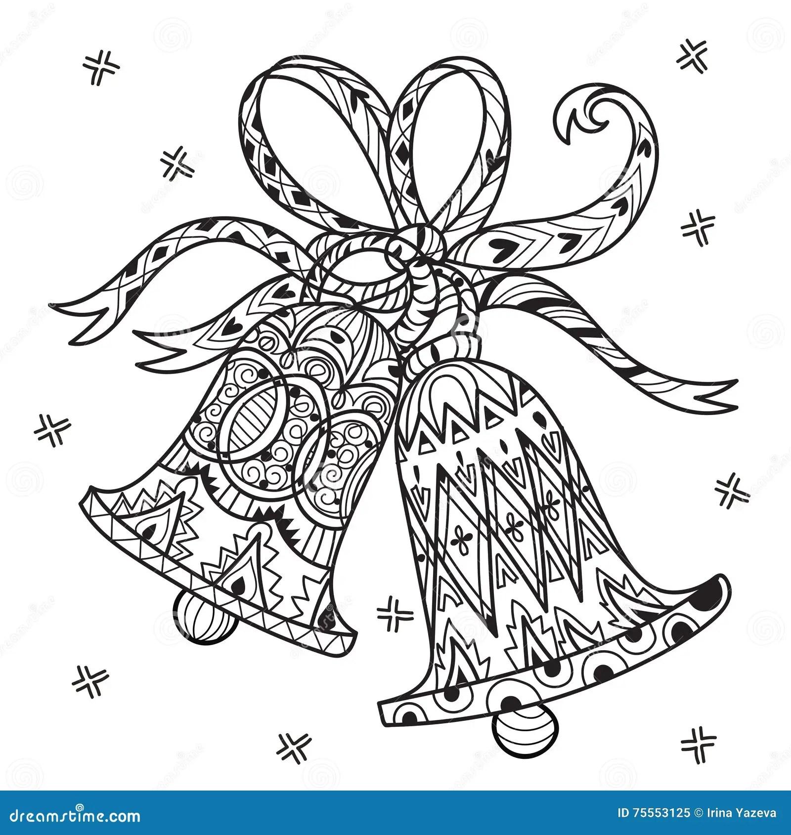 Vector Cute Fairy Doodle Christmas Bells Stock Vector