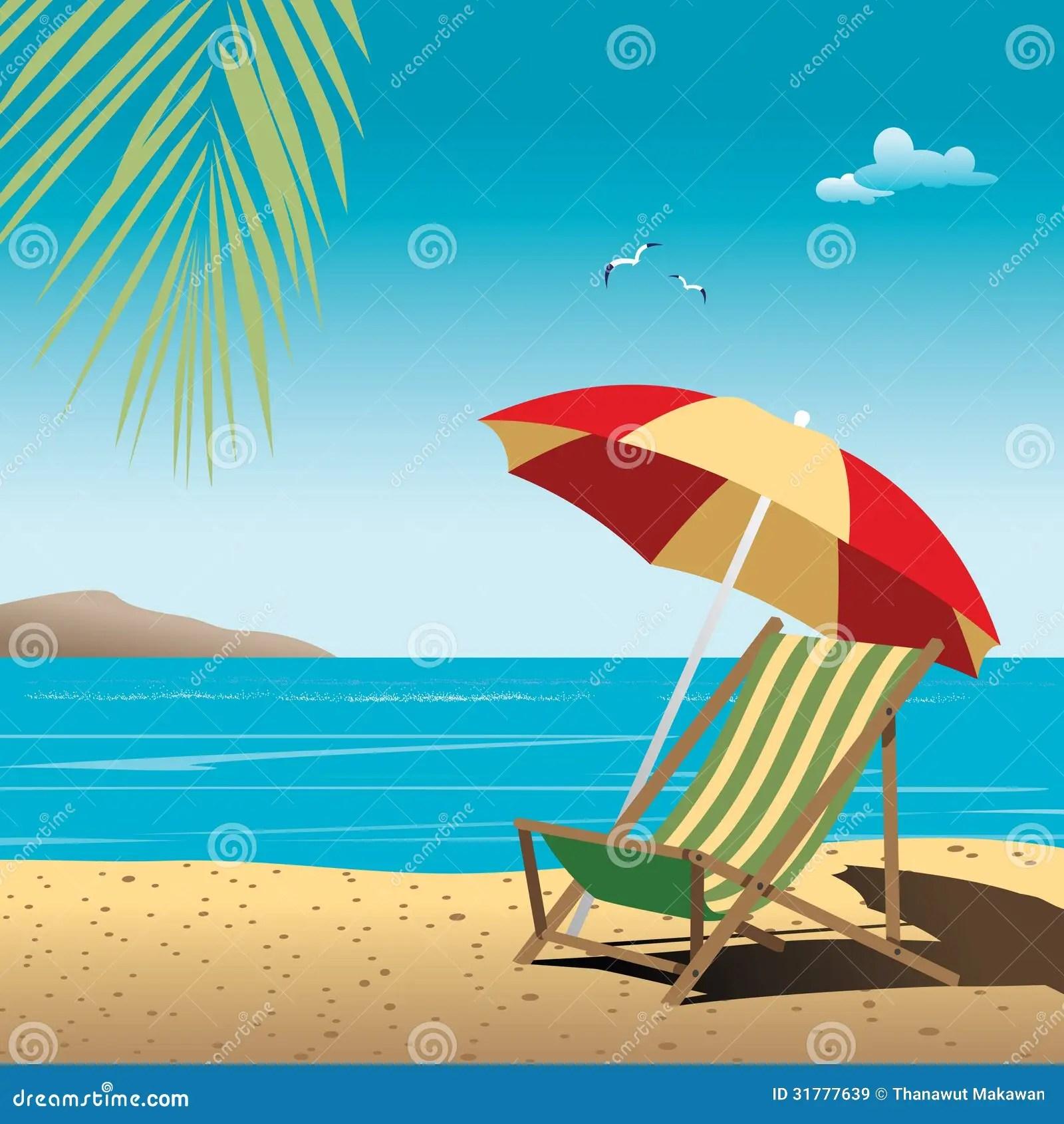 Vector De La Playa Ilustracion Del Vector Ilustracion De