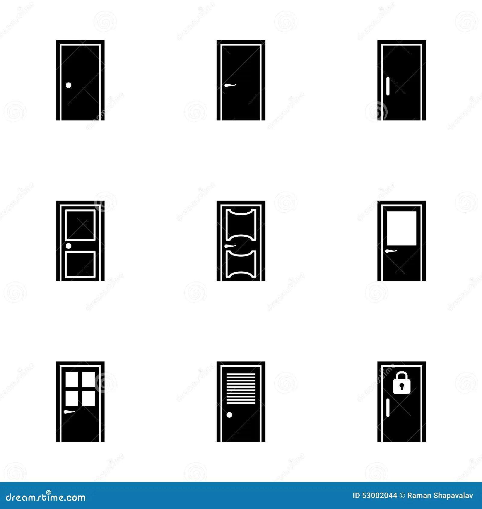 Vector Door Icon Set Stock Vector Image Of Frame Close