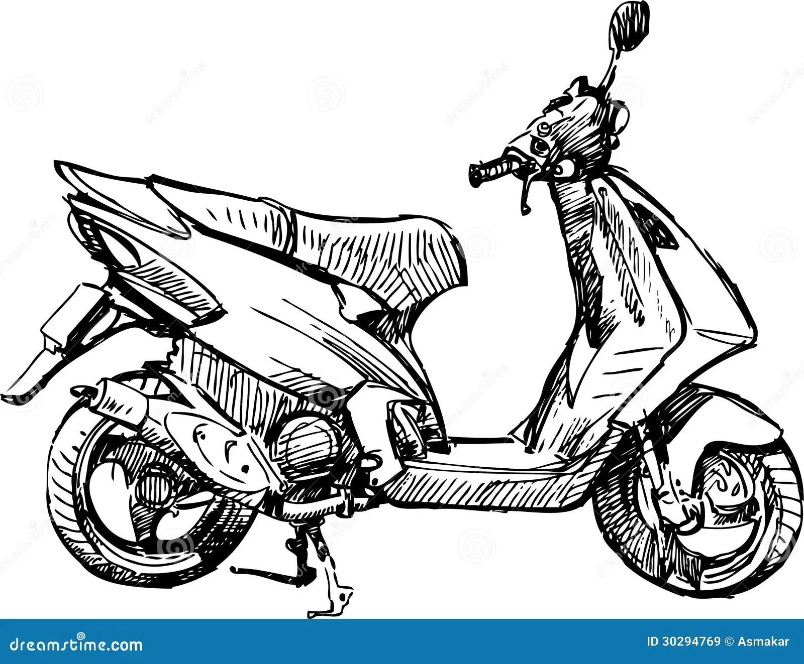 Motorbike Stock Vector Illustration Of Wheel Spring