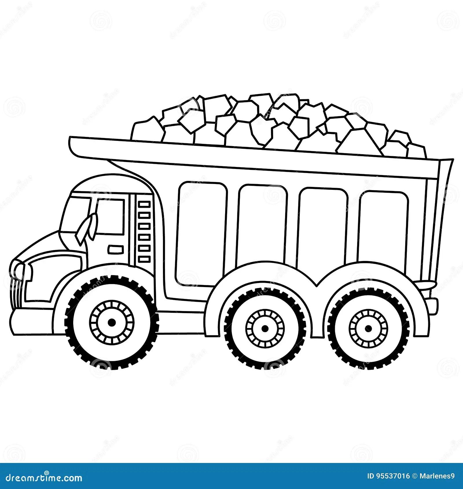 Vector Dump Truck Vector Truck Stock Vector