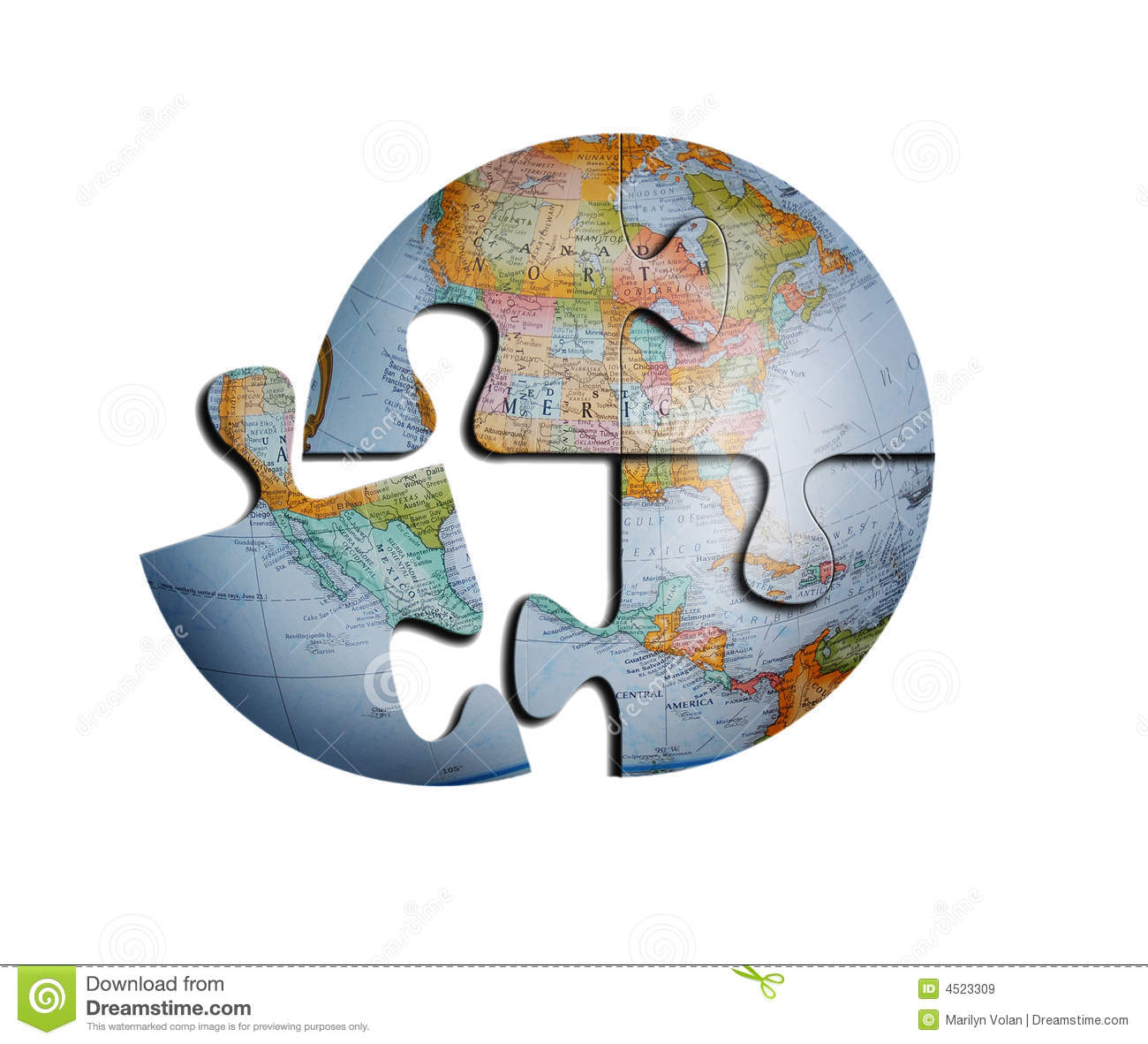 Vector Earth Puzzle Globe Stock Vector Illustration Of