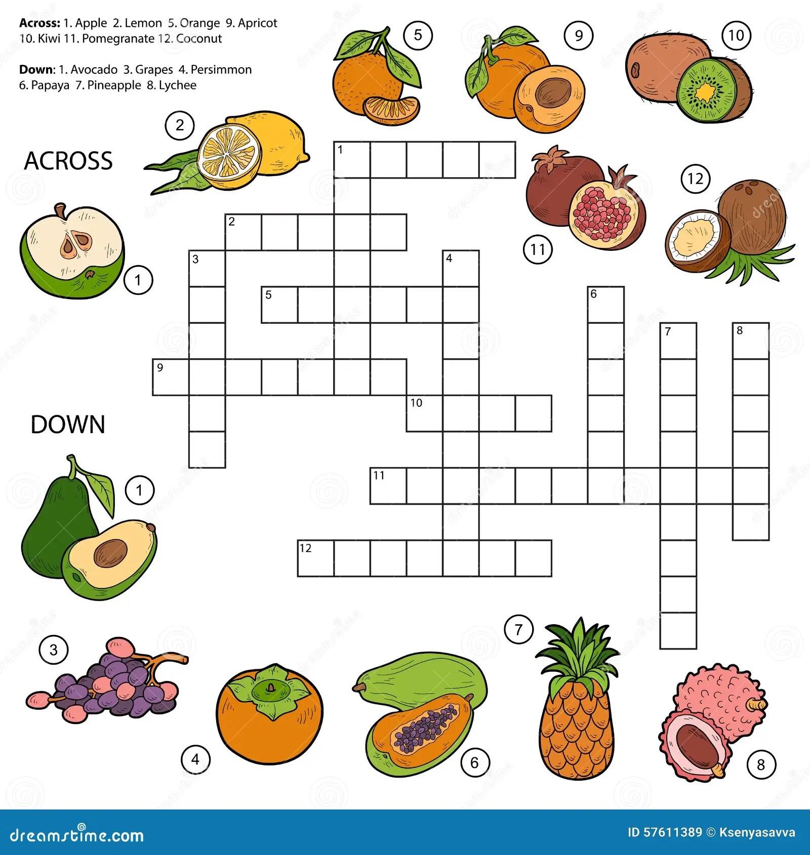 Juegos De Colorear Frutas Trendy Ejemplo Del Vector Dibujado Juego Educativo Para Colorear