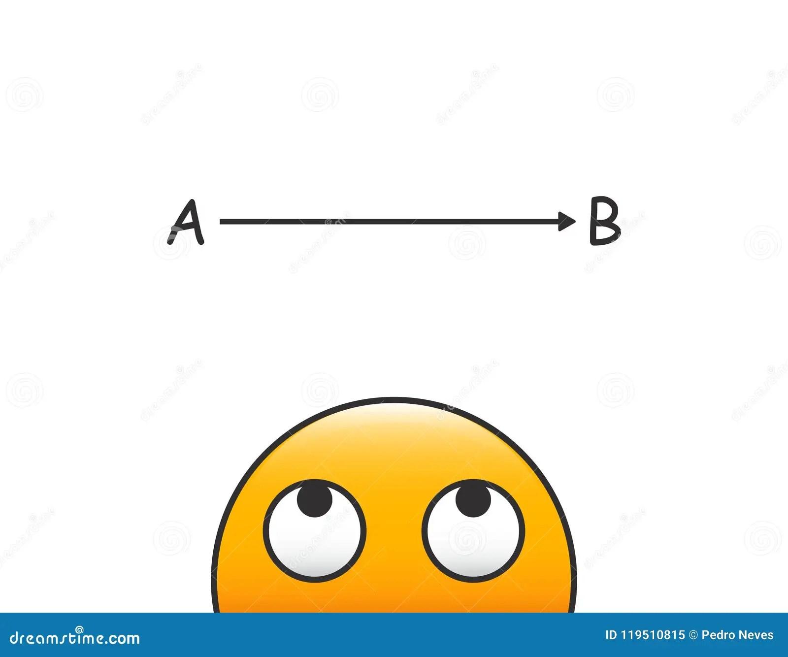 Vector Emoticon Head Looking At Problem Solving Process
