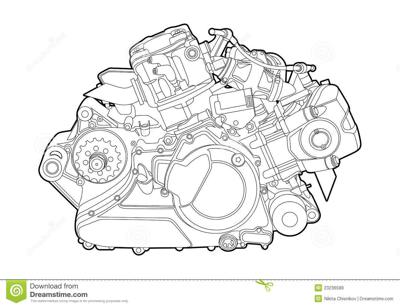 Vector Engine Stock Vector Image Of Detail Motor Energy