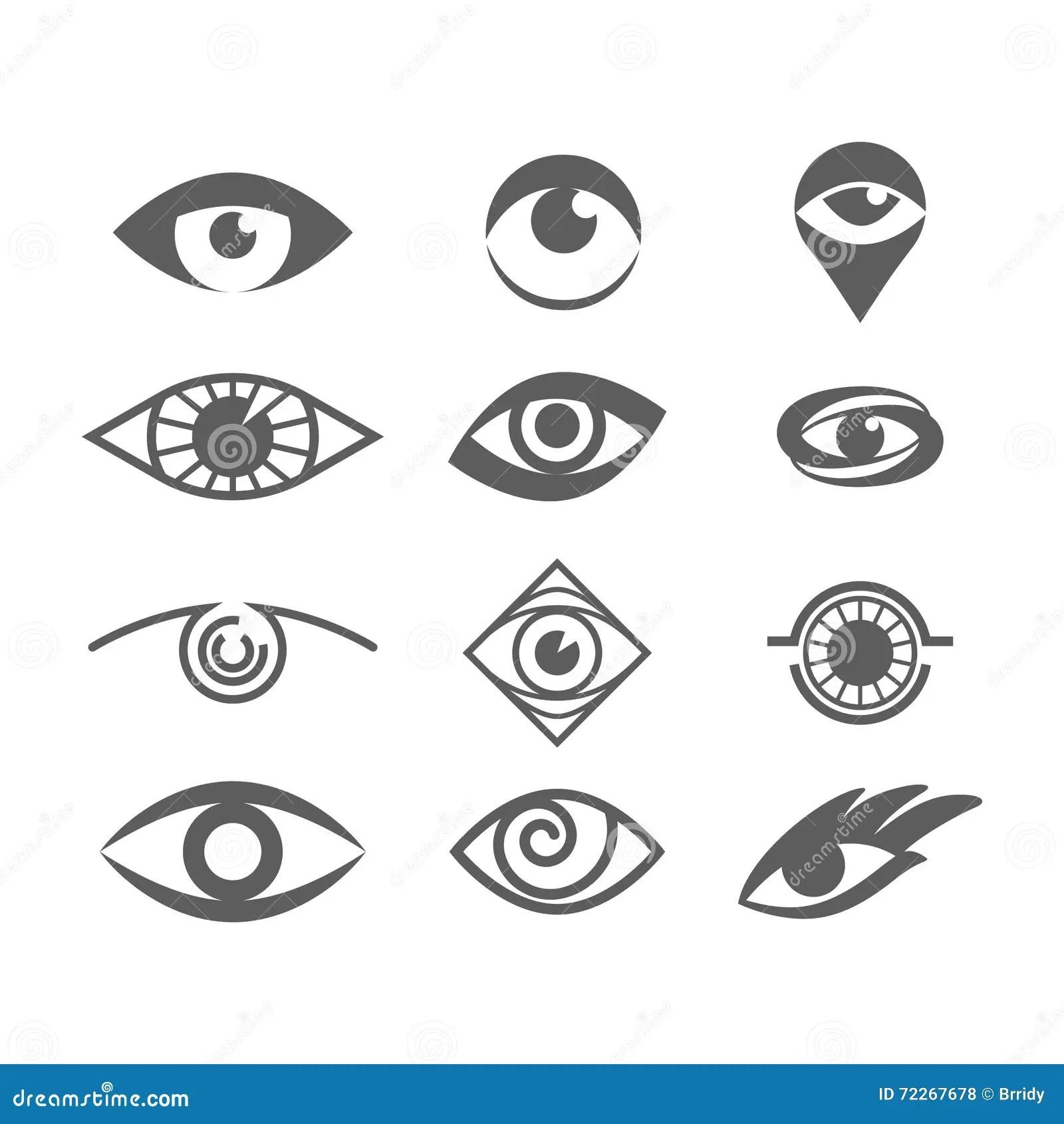 Eyes Logo Cartoon Vector