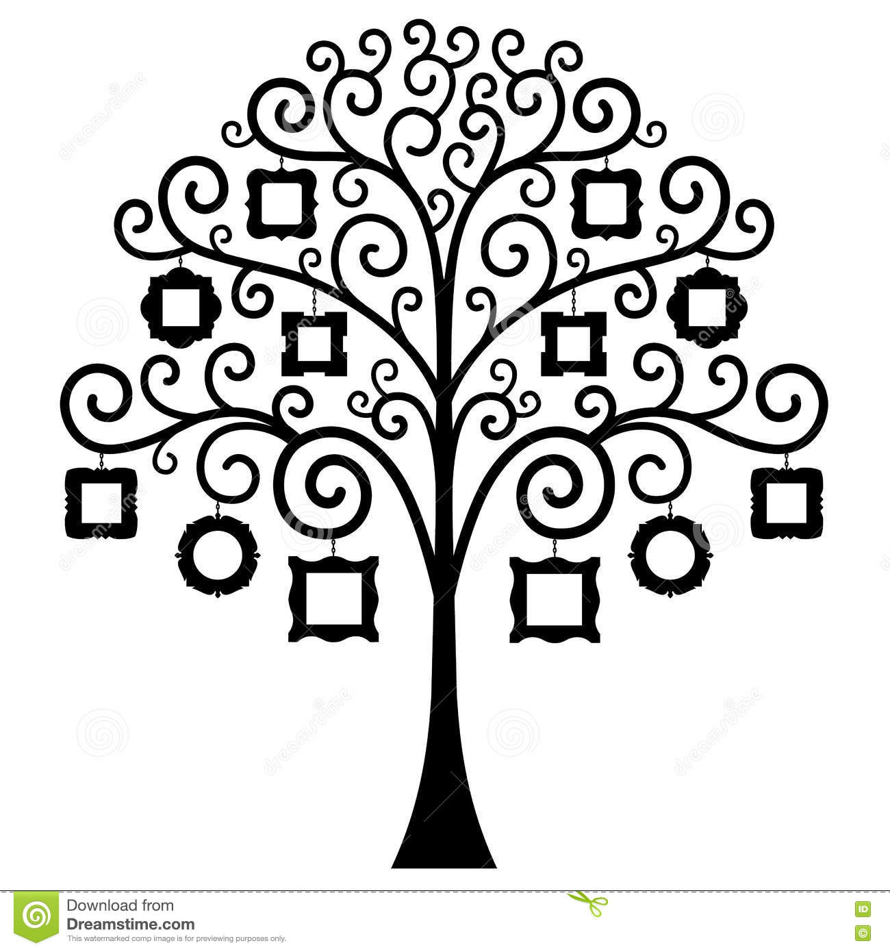 Vector Family Tree Template Stock Vector