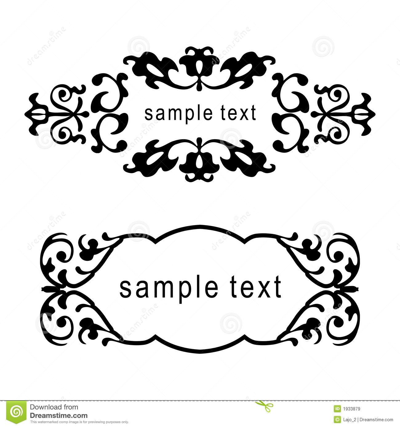 Vector Floral Frames Royalty Free Stock Images