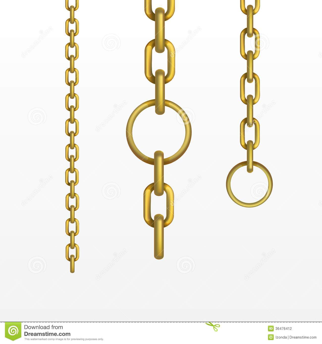 Vector Gold Chain Stock Vector Illustration Of Military
