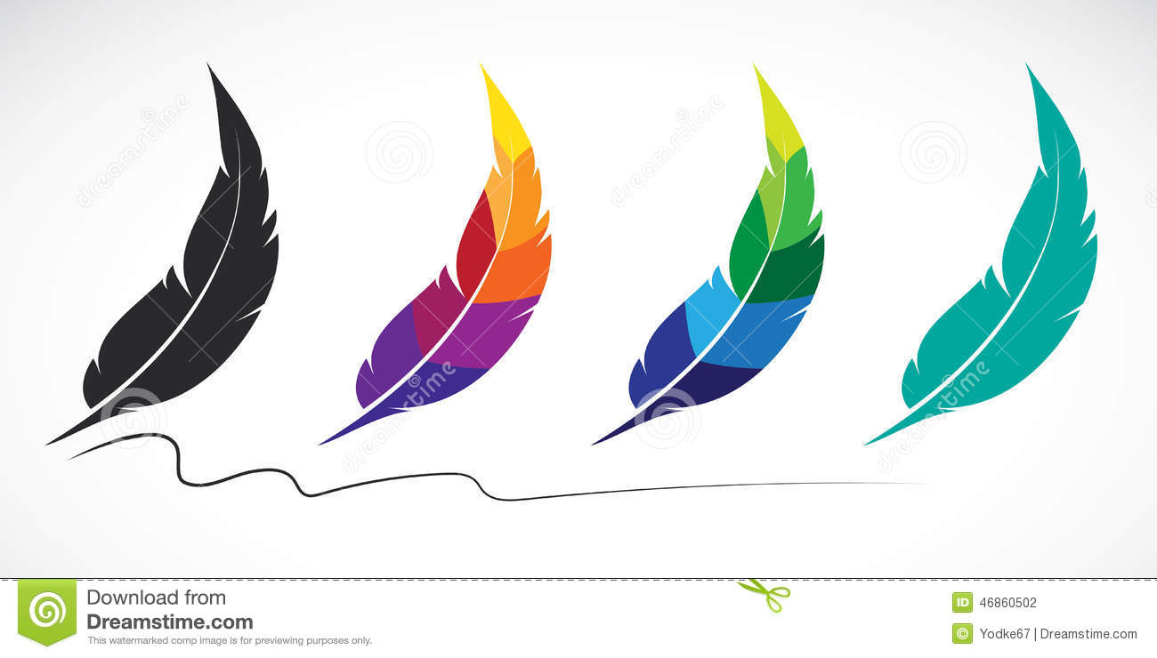 Vector Group Of Feathers Stock Vector Image 46860502