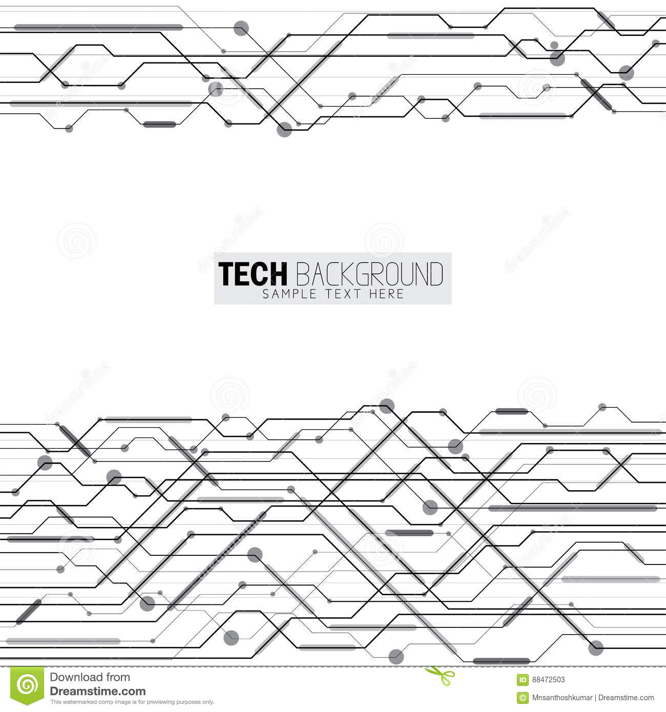 Circuit Board In Concept Vector Illustration Stock Image