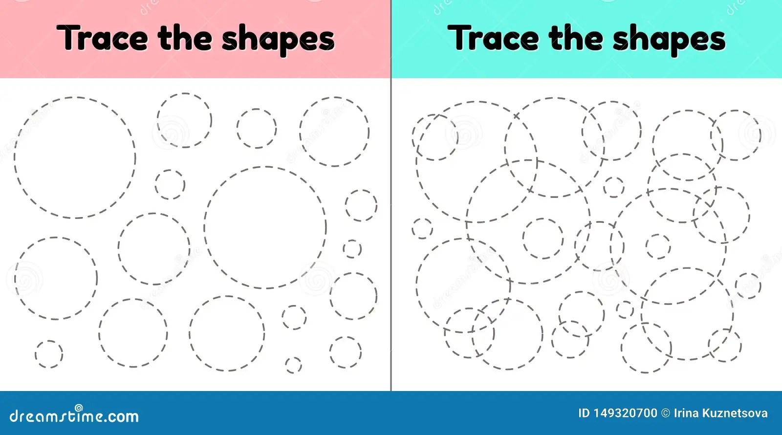 Educational Tracing Worksheet For Kids Preschool And