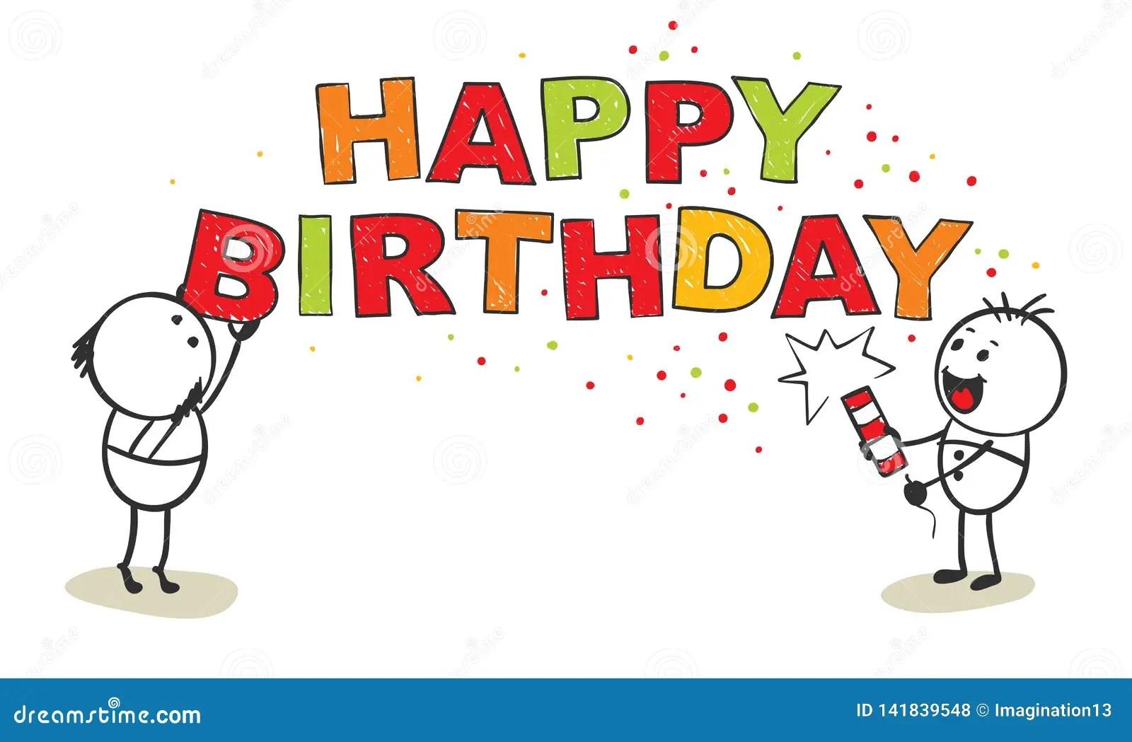 Happy Birthday Stock Vector Illustration Of Cartoon 141839548