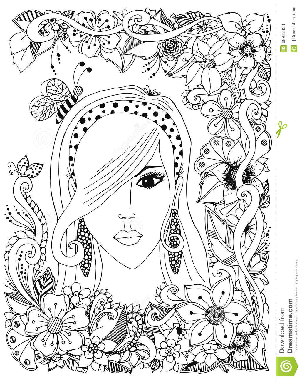 Vector Set Of Hair Care Ingre Nts Organic Hand Drawn