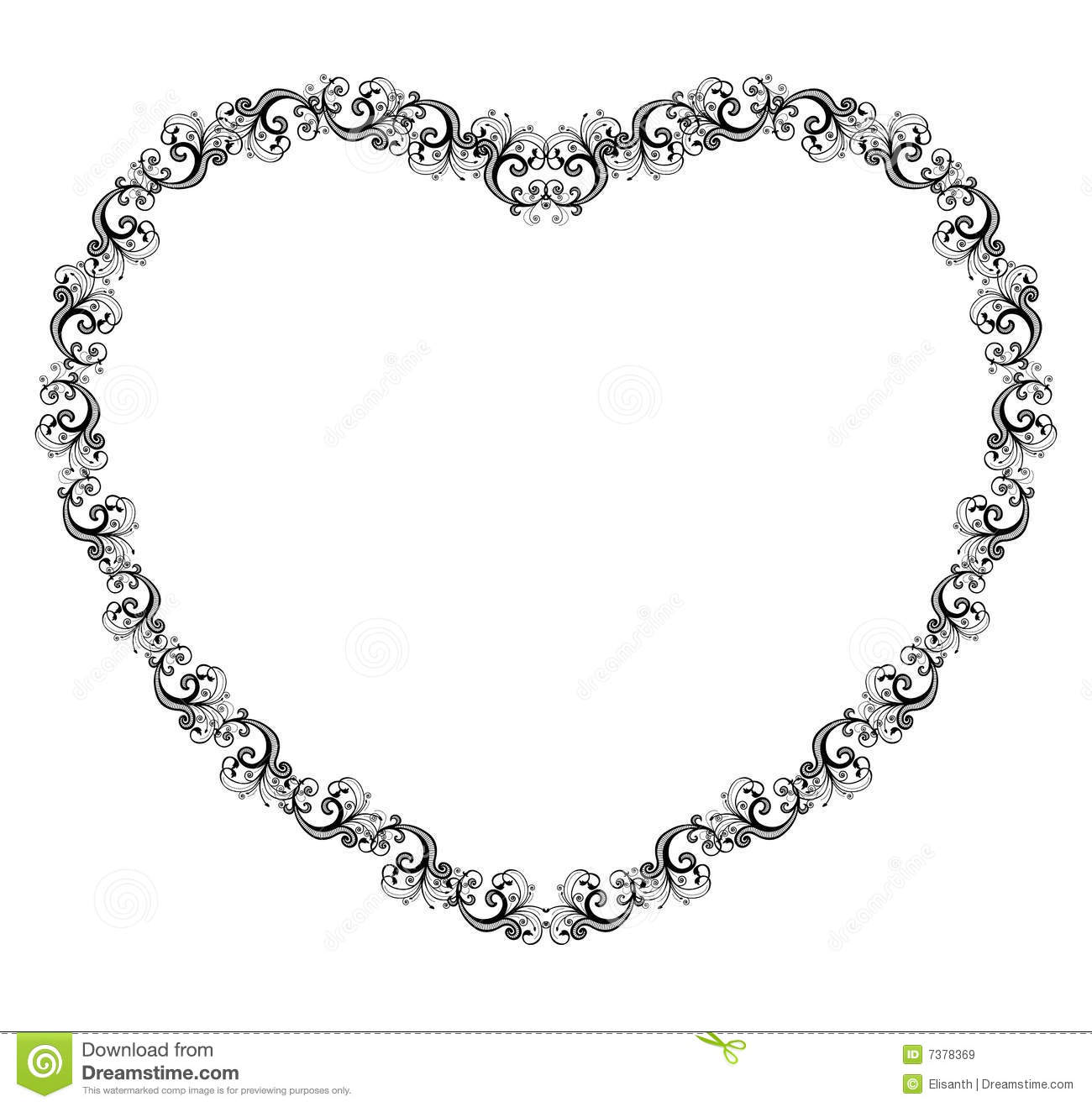 Vector Illustration Of A Heart Border Stock Vector