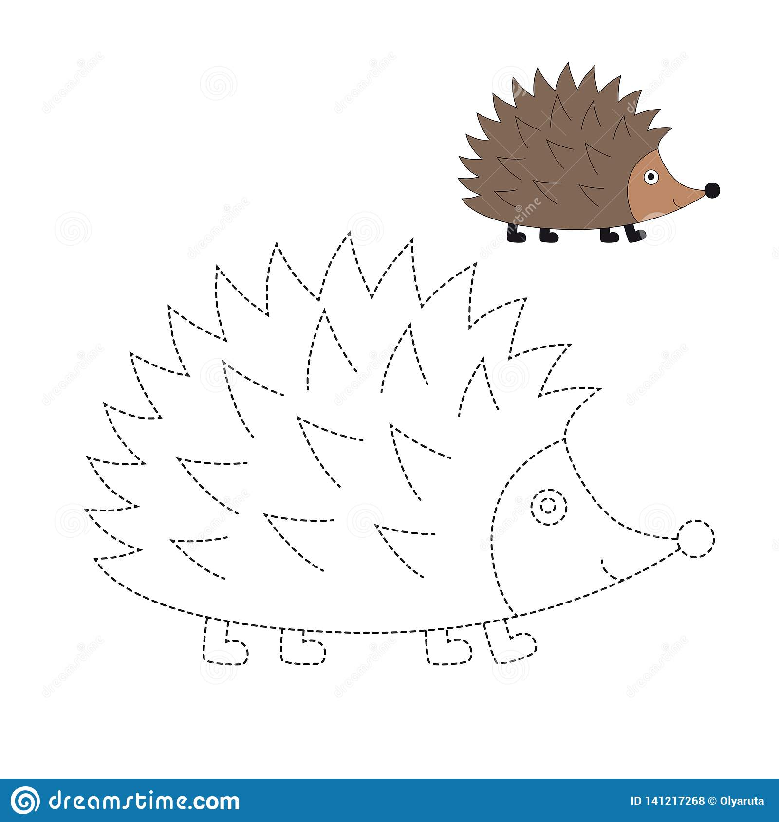 Vector Illustration Of Hedgehog For Coloring Book Stock