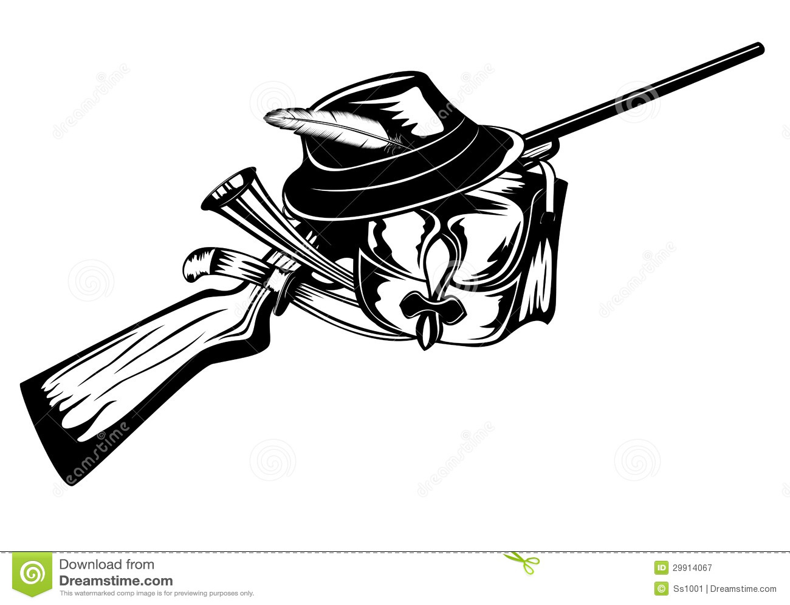 Huntings Set Stock Vector Image Of Ammunition Knife