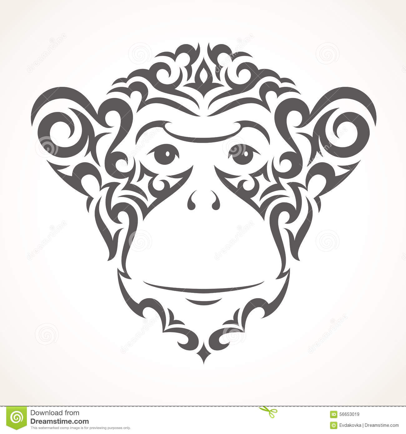 Logo And Icon Of Fun Monkey Stock Photography