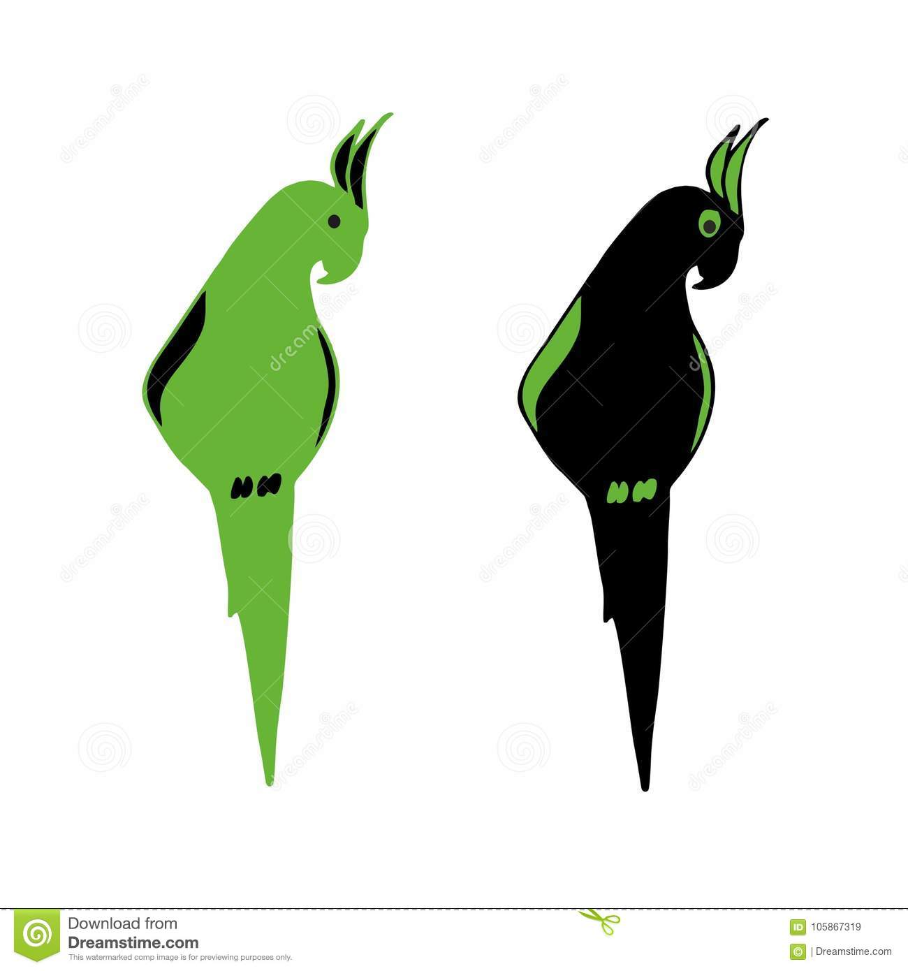 Vector Image Of An Parrot Vector Illustration