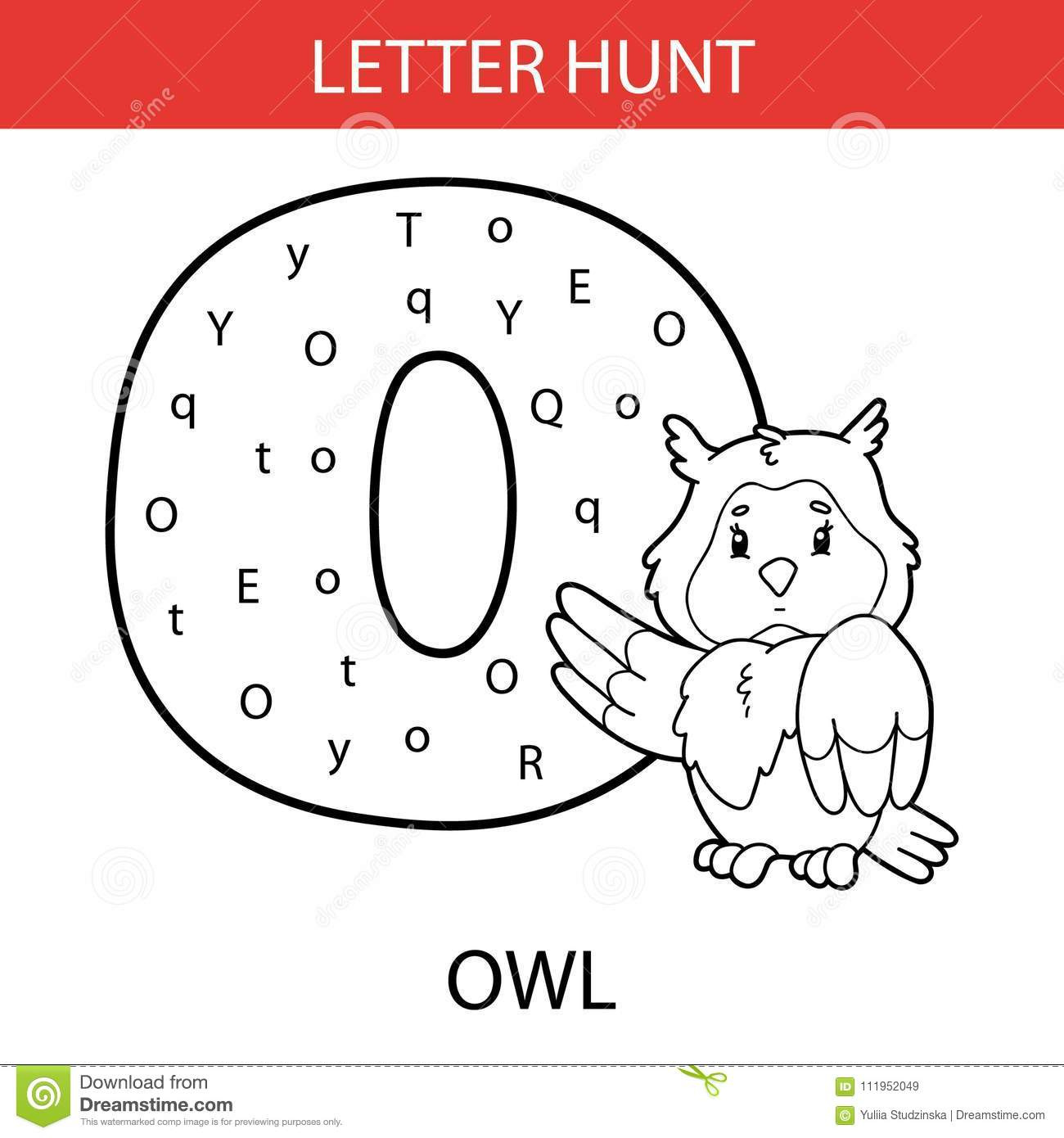 Animal Letter Hunt Owl Stock Vector Illustration Of Material