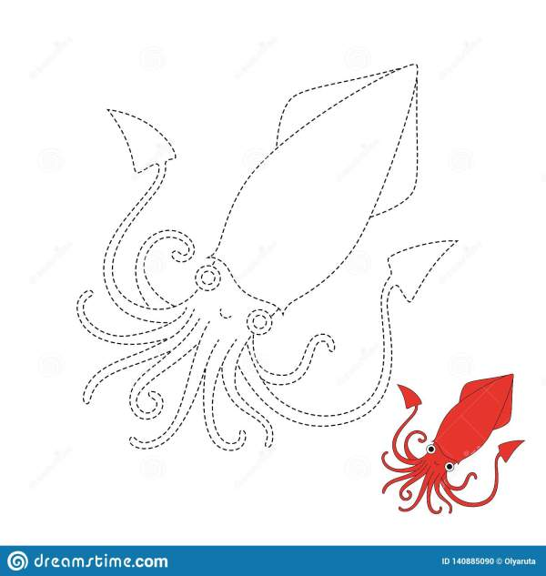 squid coloring page preschool # 20