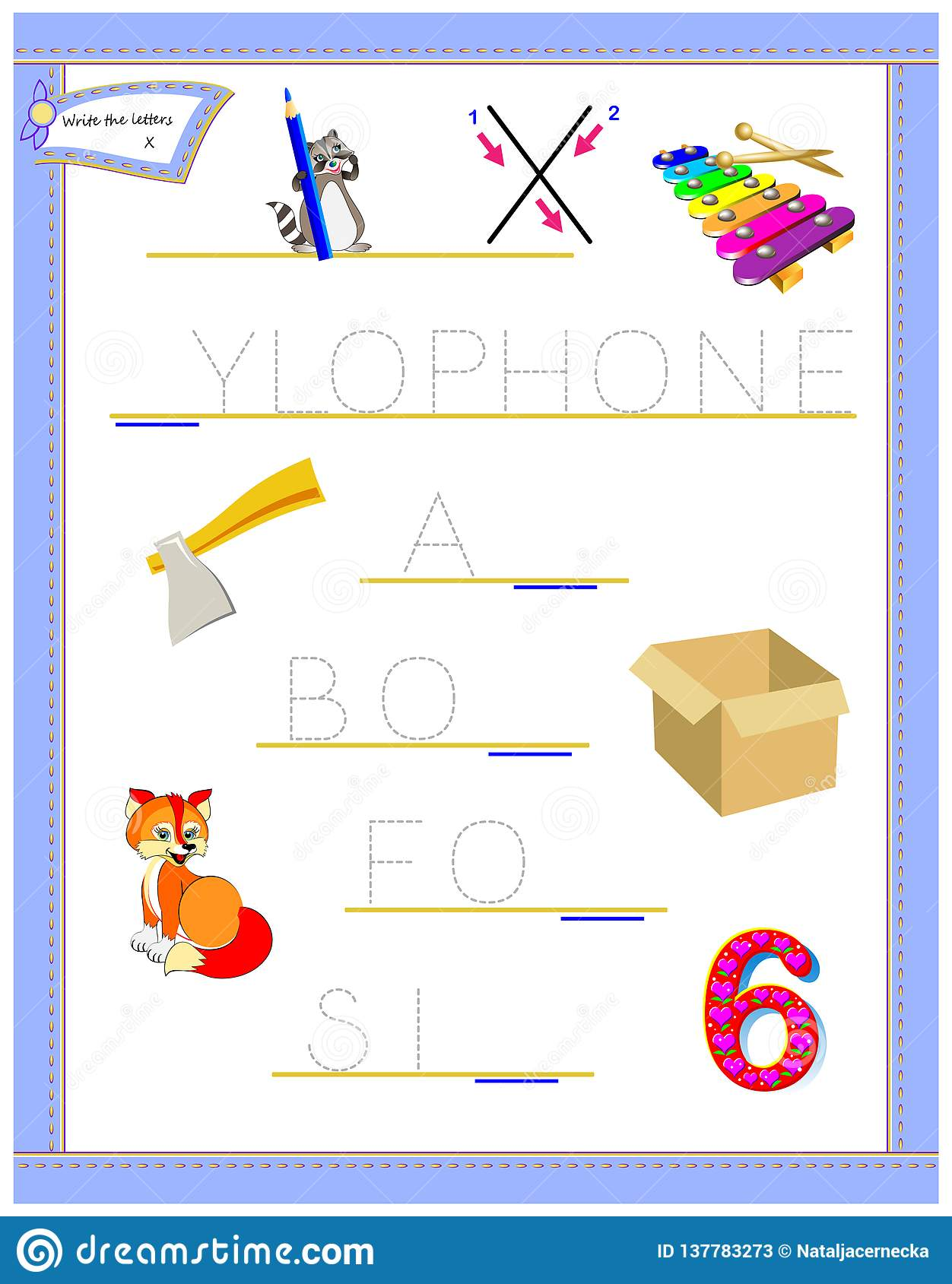 Tracing Letter X For Study English Alphabet Printable