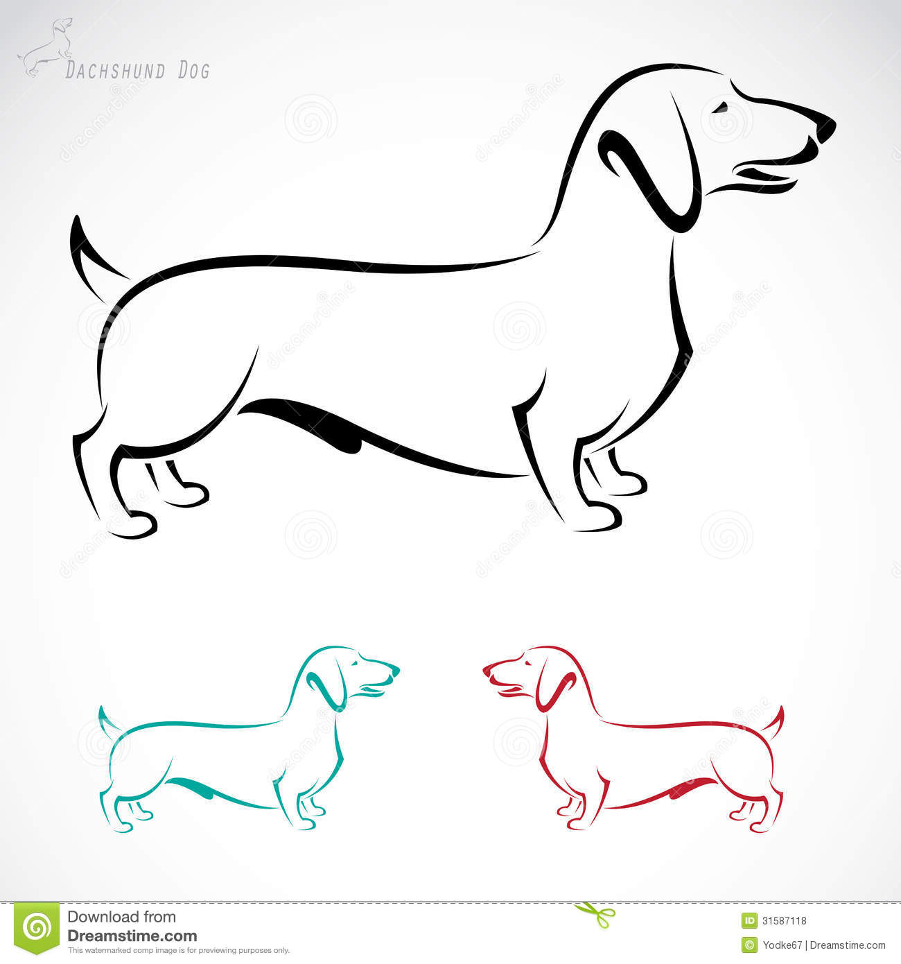 Vector Image Of An Dog Dachshund Royalty Free Stock
