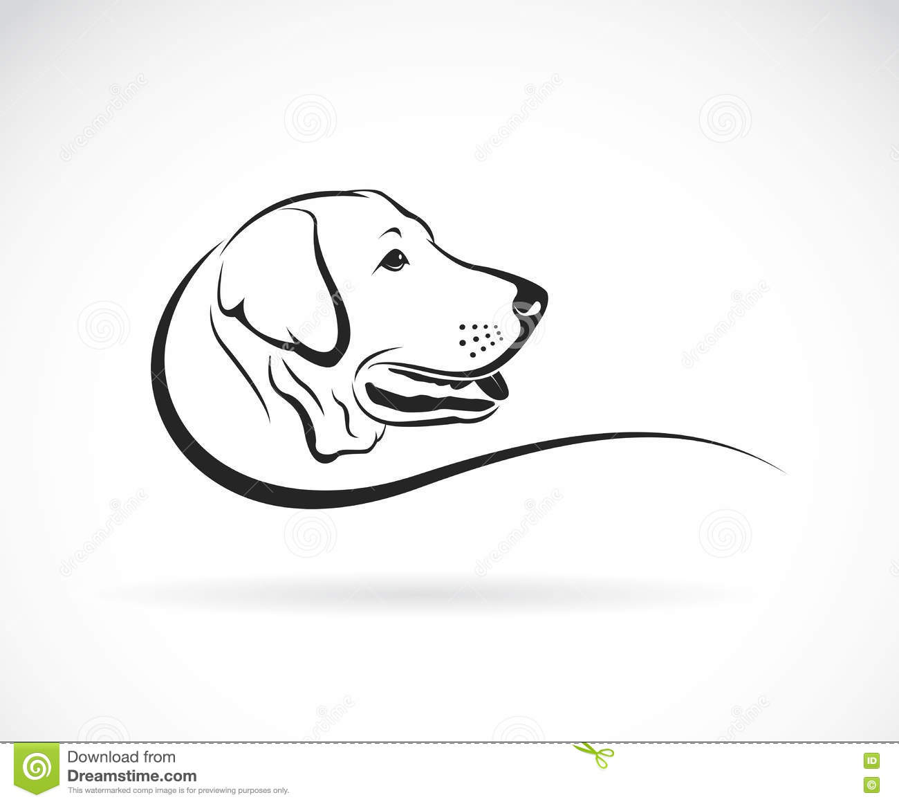 Vector Image Of A Dog Head Cartoon Vector