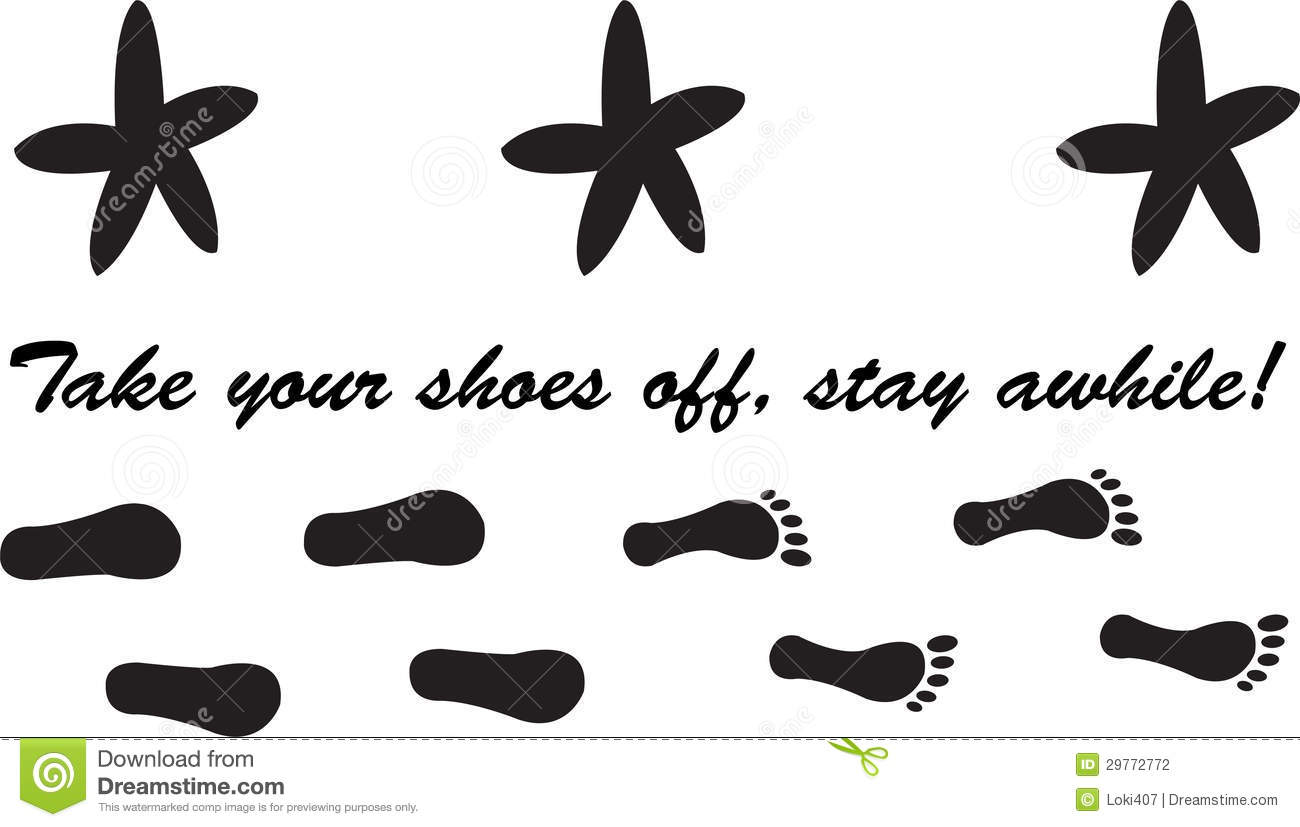 Take Off Your Shoes Stay Awhile Stock Photography