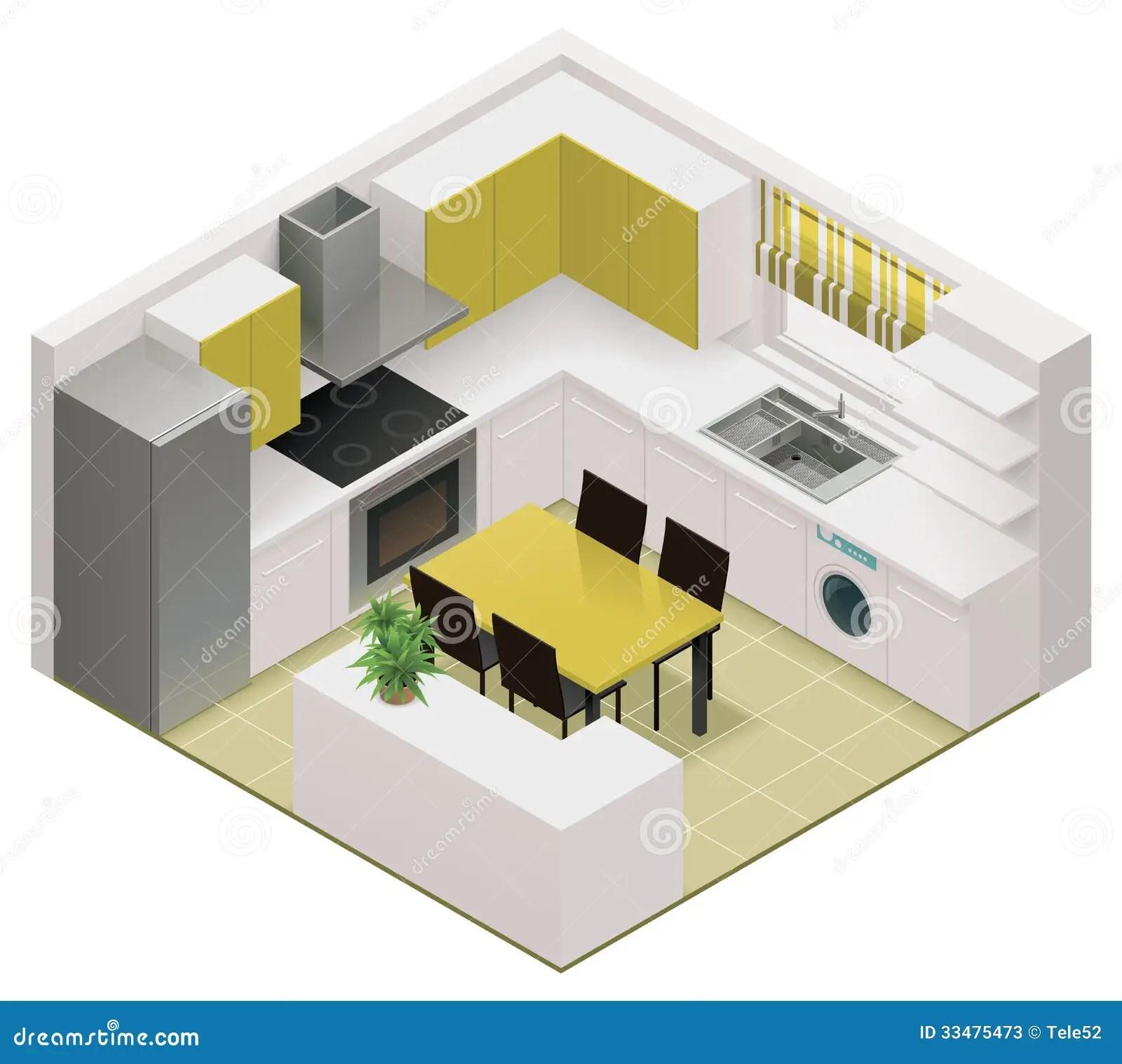 Vector Isometric Kitchen Icon Stock Vector Image 33475473