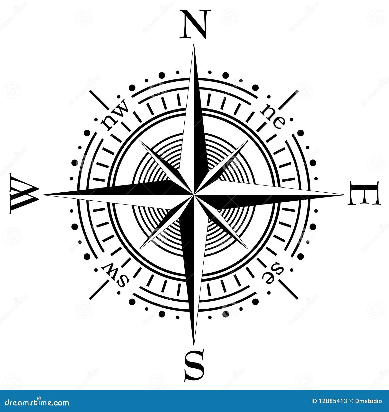 Vector Kompas Vector Illustratie Illustratie Bestaande
