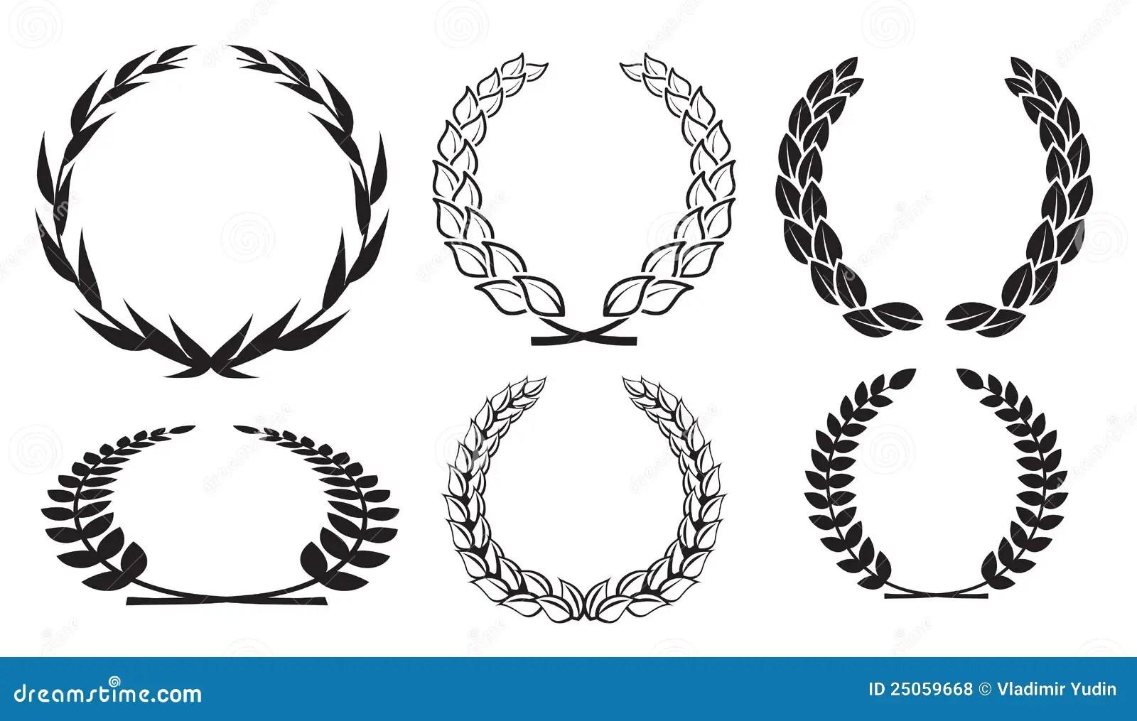 Vector Laurel Wreaths Stock Vector Illustration Of