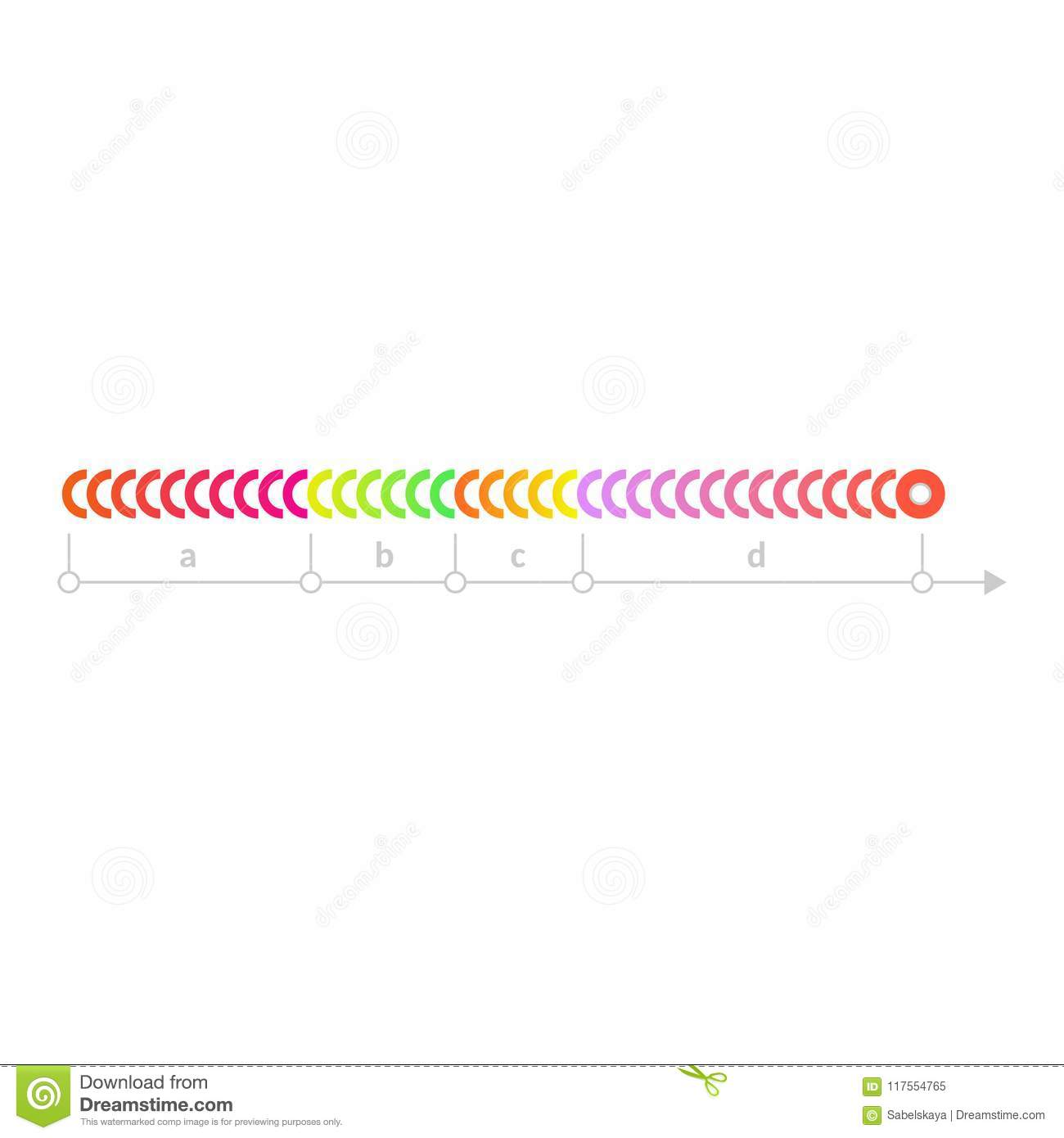Vector Linear Scale Timeline Chart Icon Stock Vector